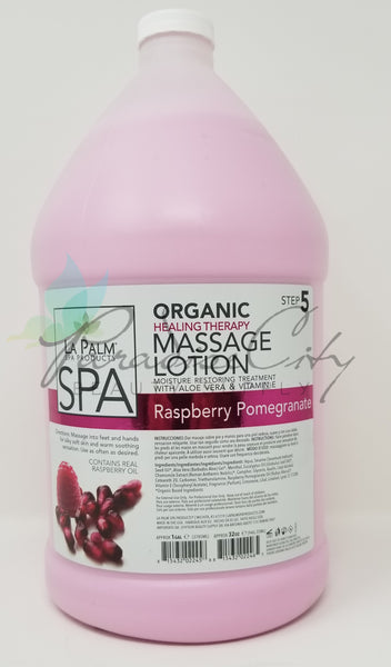 La Palm - Organic Healing Thearapy Massage Lotion Raspberry Pomegranate - FOR OAHU ONLY