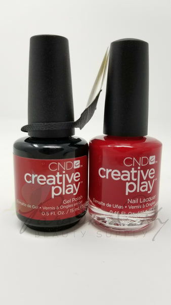 CND Creative Play Matching Gel Polish & Nail Lacquer - #412 Red-Y To Roll