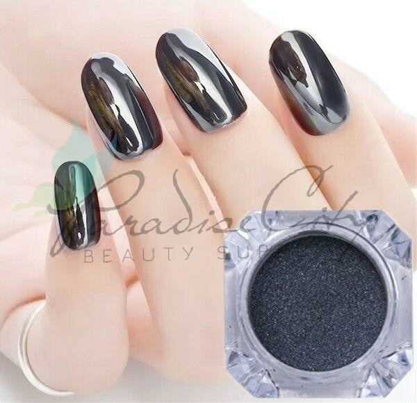 Cre8tion - Chrome Nail Art Silver Black - 1g
