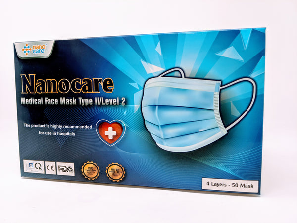 Nanocare Nano Silver Medical 4-Ply Disposable Face Masks Type IIR/Level 3