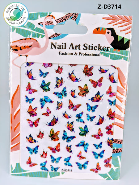Butterfly Sticker Nail Art