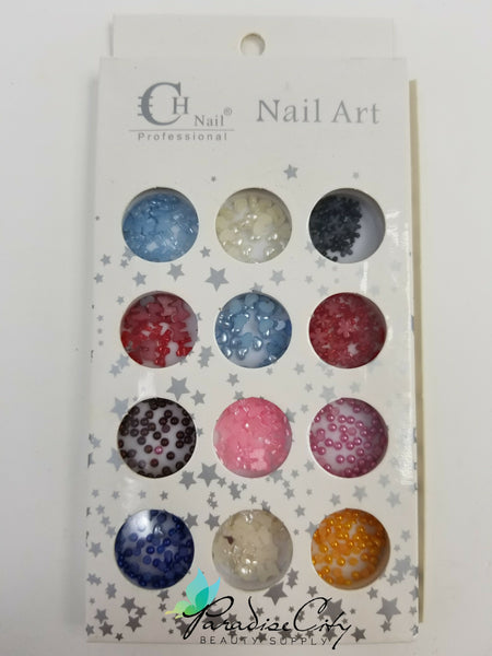 CH #20 Nail Art Assorted Colors Studs Pack 2