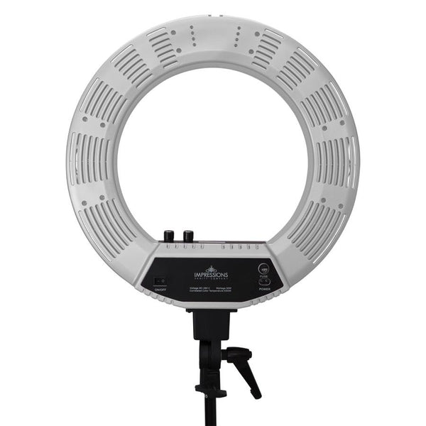 Impressions 18-Inch DuoTone LED Vanity Studio Ring Light w/ Stand, Bag, & Accessories