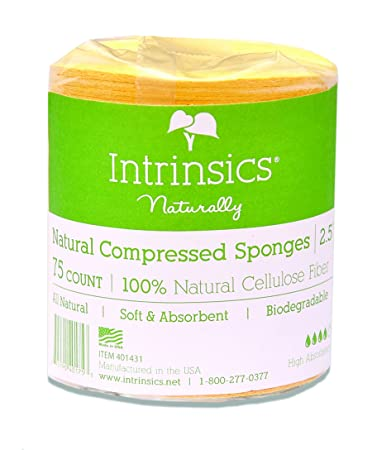 Intrinsics Naturally - Compressed Cellulose Sponges