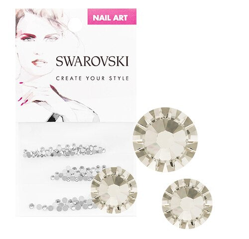 Swarovski Crystals For Nails 2058 Silver Shade Multi Size