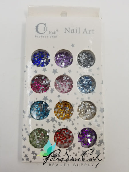 CH #12 Nail Art Assorted Colors Teardrops Rhinestones