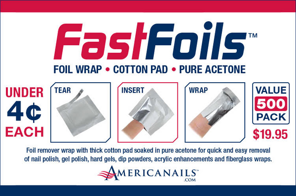 Americanails FastFoils Foil Wrap - 500 Count (IN STORE PURCHASE ONLY)