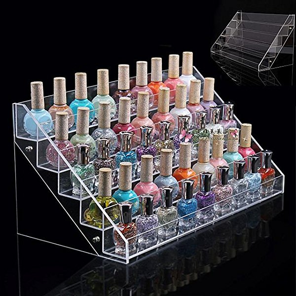 Americanails Large Table Top 60 Bottles/5 Tier Nail Polish Display Rack
