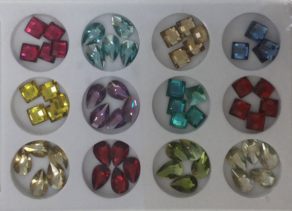 CH #33 Nail Art Assorted Colors Rhinestones