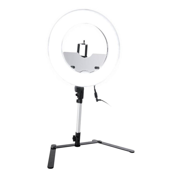 Impressions 13.5-Inch Desktop Dimmable LED Vanity Studio Ring Light w/ Stand, Bag, & Accessories