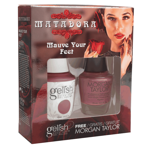 Gelish Matadora Matching Gel Polish & Nail Lacquer - Mauve Your Feet