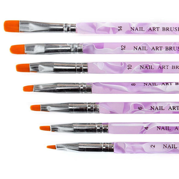 BMC 7pc Nail Art Decorating Brushes