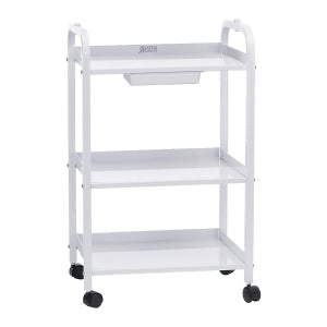 Satin Smooth - Small #-Shelf Trolley With Drawer (Oahu In Store Buy Only)