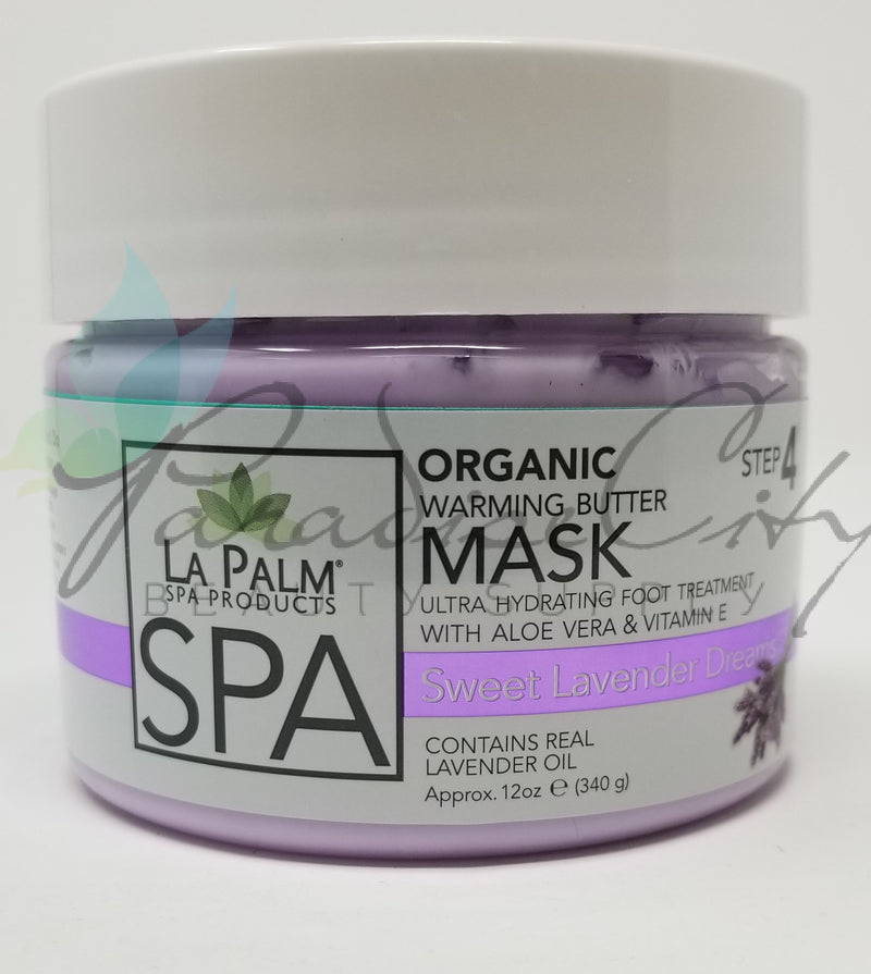 La Palm - Organic Warming Butter Foot Mask - Sweet Lavender Dreams