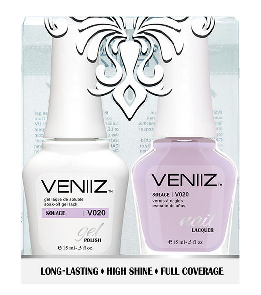 Veniiz Duo - V020 Solace - Matching Gel Polish & Nail Lacquer