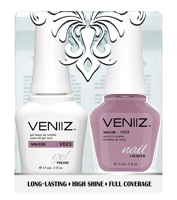 Veniiz Duo - V023 Sincere - Matching Gel Polish & Nail Lacquer