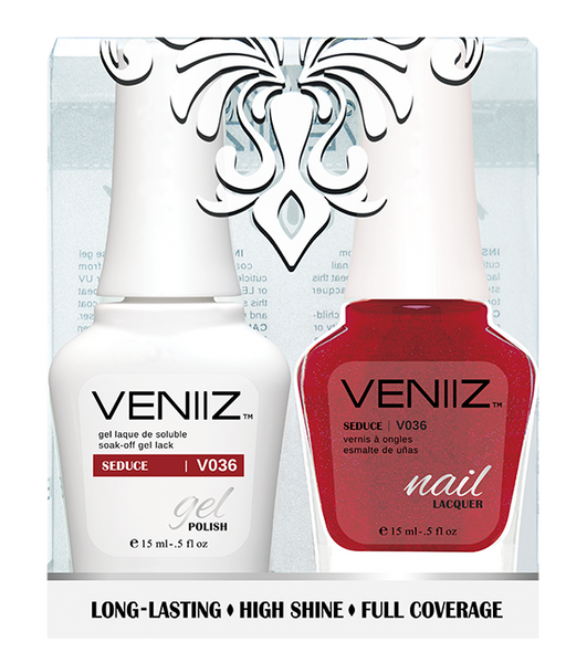 Veniiz Duo - V036 Seduce - Matching Gel Polish & Nail Lacquer
