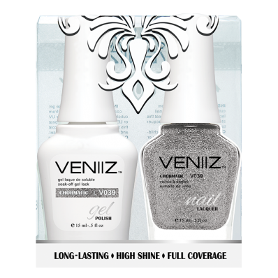 Veniiz Duo - V039 Chromatic - Matching Gel Polish & Nail Lacquer