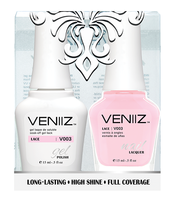 Veniiz Duo - V003 Lace - Matching Gel Polish & Nail Lacquer