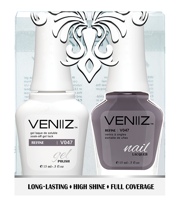 Veniiz Duo - V047 Refine - Matching Gel Polish & Nail Lacquer