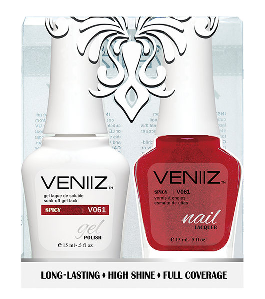 Veniiz Duo - V061 Spicy - Matching Gel Polish & Nail Lacquer