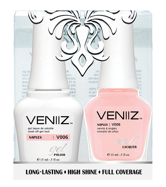 Veniiz Duo - V006 Naples - Matching Gel Polish & Nail Lacquer