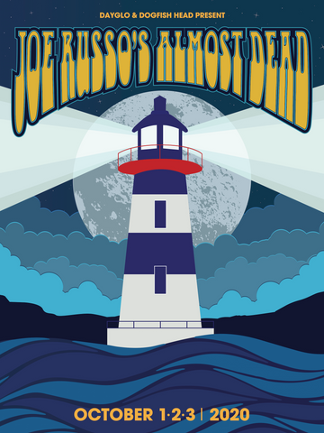 Joe Russo's Almost Dead - October 2020 Lighthouse Event Poster