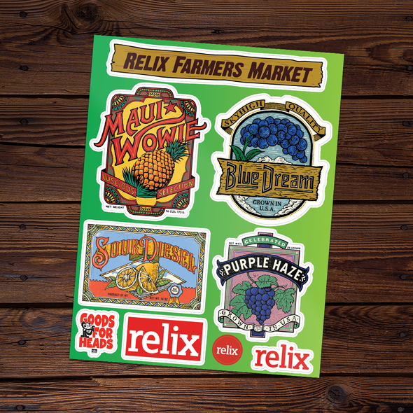 Farmer's Market Sticker Sheet