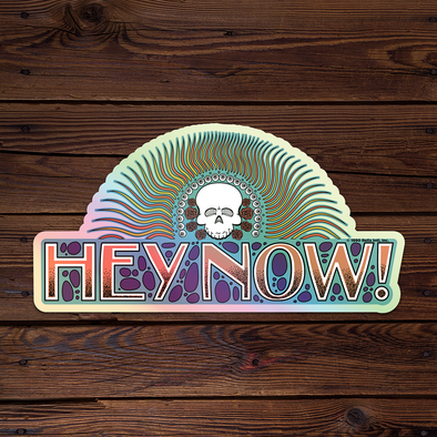 Hey Now! - Holographic Throwback Sticker