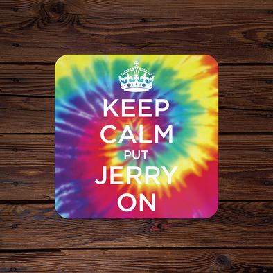 Keep Calm Put Jerry On Tie-Dye Sticker