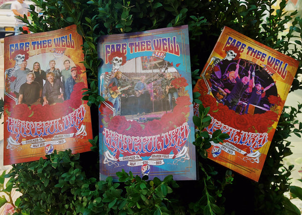 Dead 50: Fare The Well Chicago Program - Set of 3