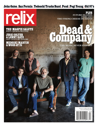 "April/May 2017 Relix Cover Poster Featuring Dead & Company - 30"" x 40"" (Printed on Vinyl)"