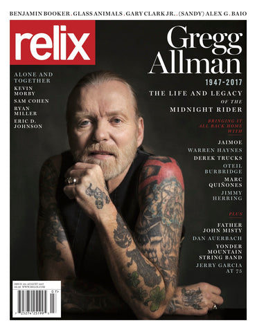 "August 2017 Relix Cover Poster Featuring Gregg Allman - 30"" x 40"" (Printed on Vinyl)"