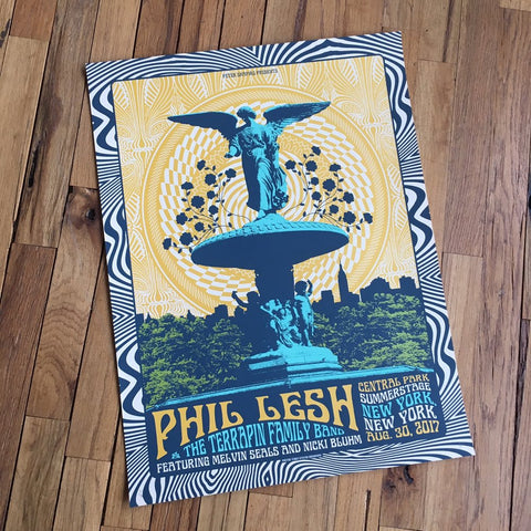 Limited Edition Poster: Phil Lesh & The Terrapin Family Band at Central Park SummerStage