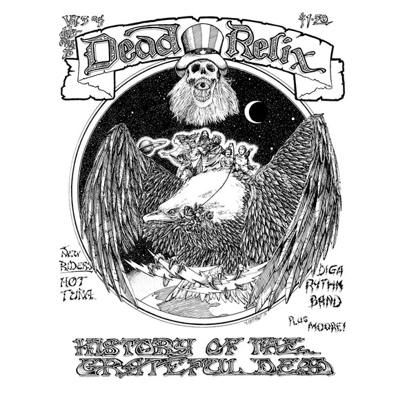 "Limited Edition ""Relix History of The Dead"" Vintage Art Poster"