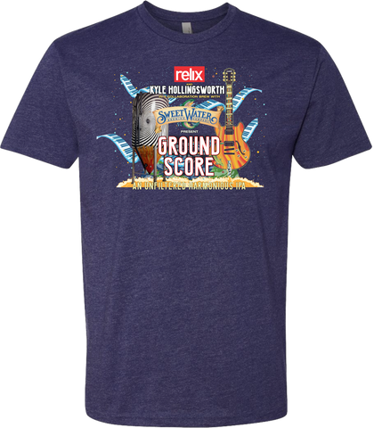 "Relix Collaboration with Kyle Hollingsworth & Sweetwater Brewing Official T-Shirt ""Ground Score IPA"""