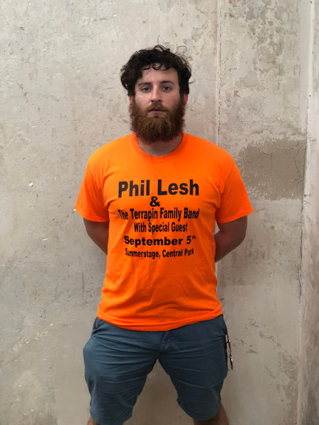 Phil Lesh in Central Park - Walking Billboard Shirt