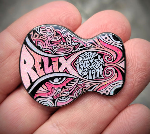 Relix Guitar Pin - Pink Lady Variant