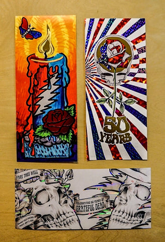 Dead 50: Fare Thee Well Chicago Commemorative Ticket Stub - Set of Three