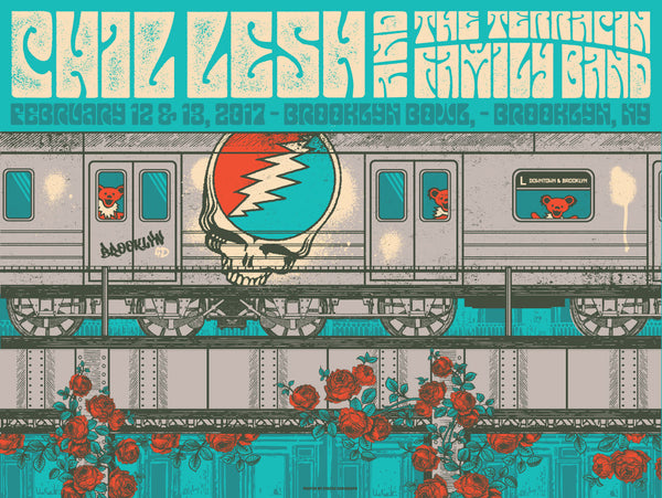 Limited Edition Poster: Phil Lesh and The Terrapin Family Band | Brooklyn Bowl, Brooklyn, NY 2/12-13, 2017