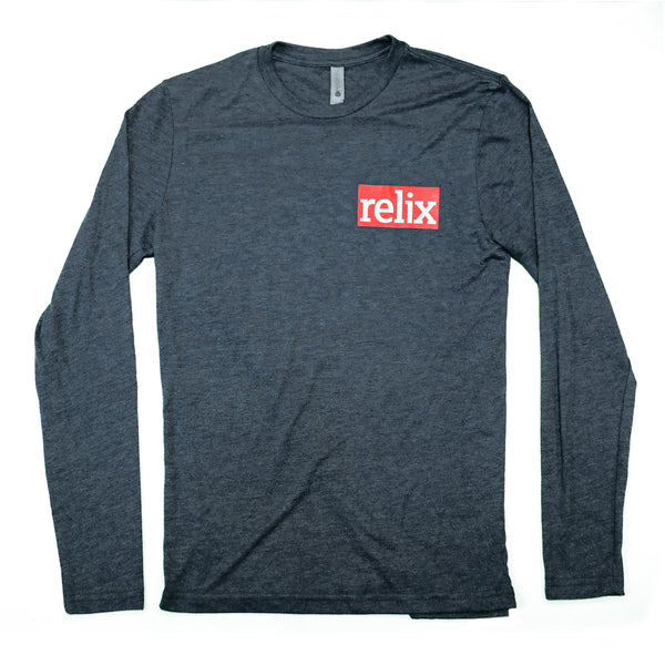 Relix Navy Logo Long-Sleeve Tee