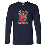 Shake Yer Bones Vintage Long Sleeve Navy T-Shirt