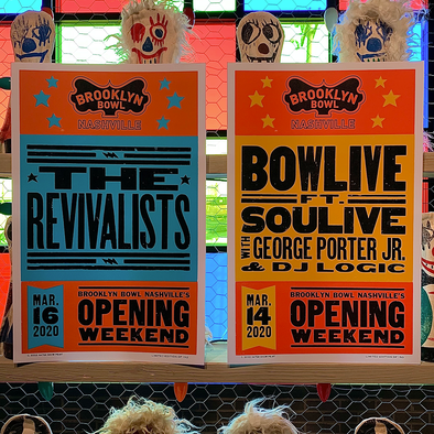 Brooklyn Bowl Nashville Opening Weekend Poster Set