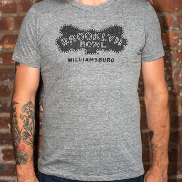 Brooklyn Bowl Williamsburg Gray Logo T-Shirt