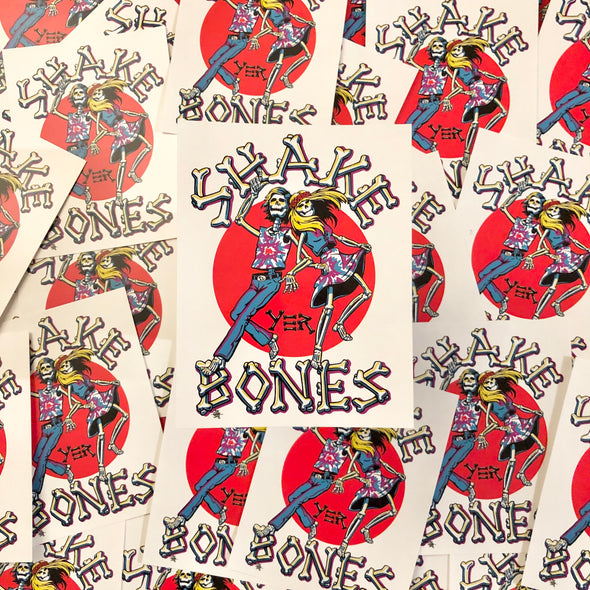 Shake Yer Bones - Throwback Sticker