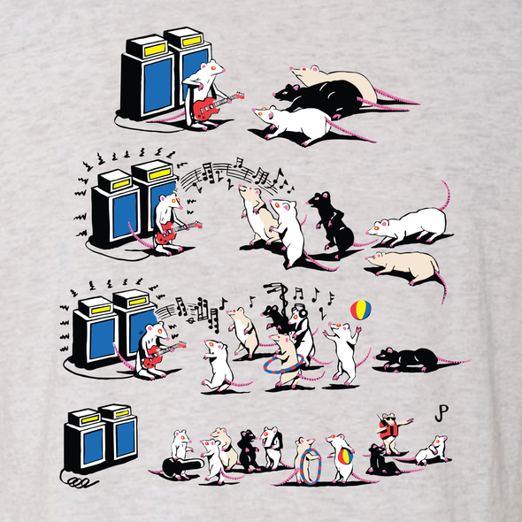 "Jim Pollock ""Pied Piper"" Heather White T-Shirt"