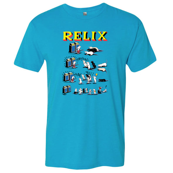 "Jim Pollock ""Pied Piper"" Turquoise T-Shirt"