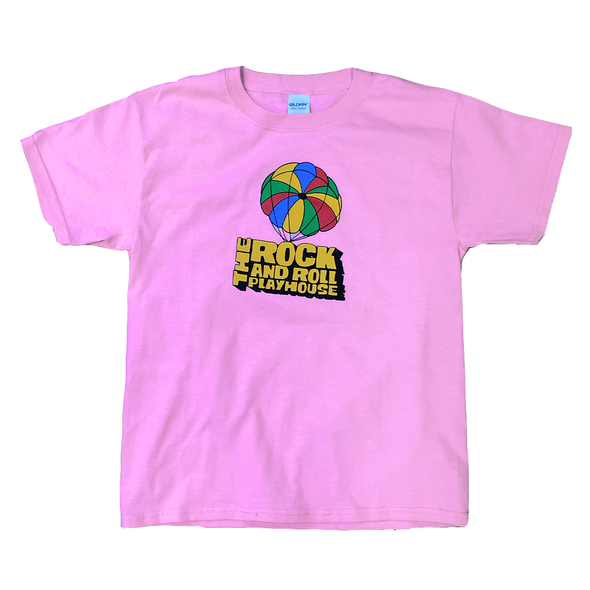 Pink Rock and Roll Playhouse Kid's Parachute T-Shirt