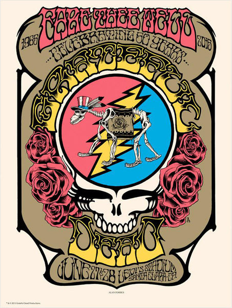 Fare Thee Well Poster: Forbes Steal Your Face - Santa Clara