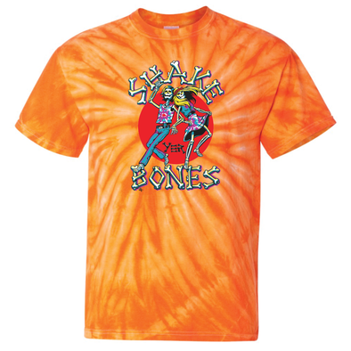 Shake Yer Bones Throwback Orange Tie-Dye T-Shirt
